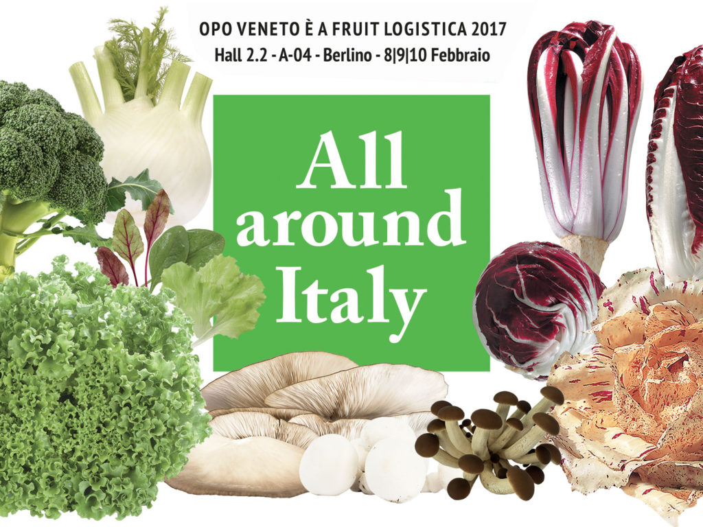 "OPO Veneto a Fruit Logistica (Hall 2.2-A-04) con un volto marcatamente nazionale: ""All around Italy"""